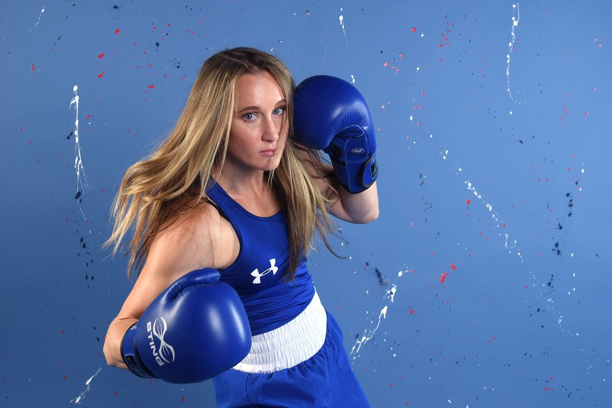 Boxer Ginny Fuchs poses for a portrait during the Team USA Tokyo 2020 Olympic shoot (Photo by Harry How/Getty Images) (Getty Images)
