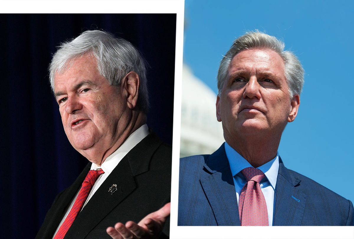 Newt Gingrich and Kevin McCarthy (Photo illustration by Salon/Getty Images)
