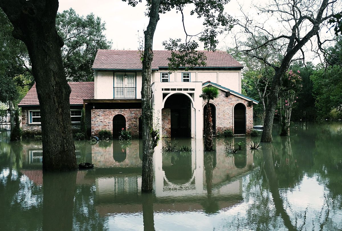 Homes remain flooded as Texas moved toward recovery from the devastation of Hurricane Harvey on September 4, 2017 in Houston, Texas. (Spencer Platt/Getty Images)
