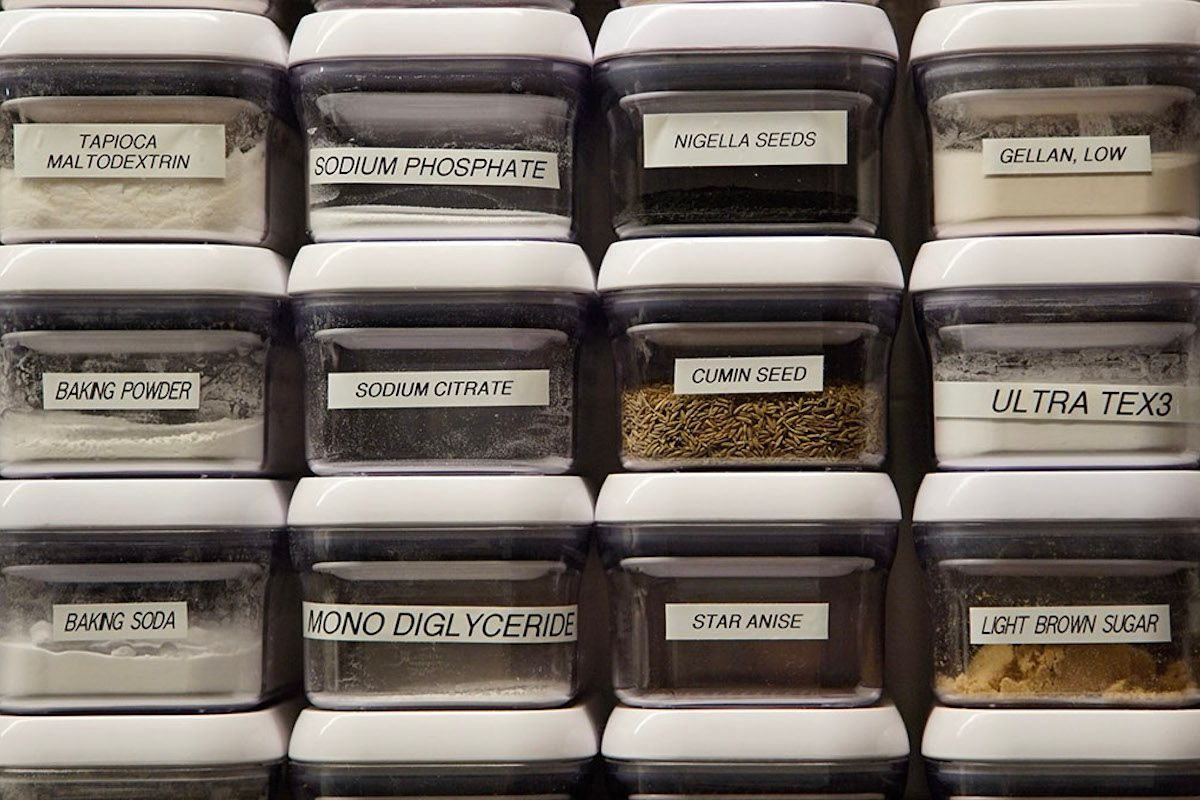 Spices in the Culinary Technology Lab at ICE. (Photo courtesy of the Institute of Culinary Education)