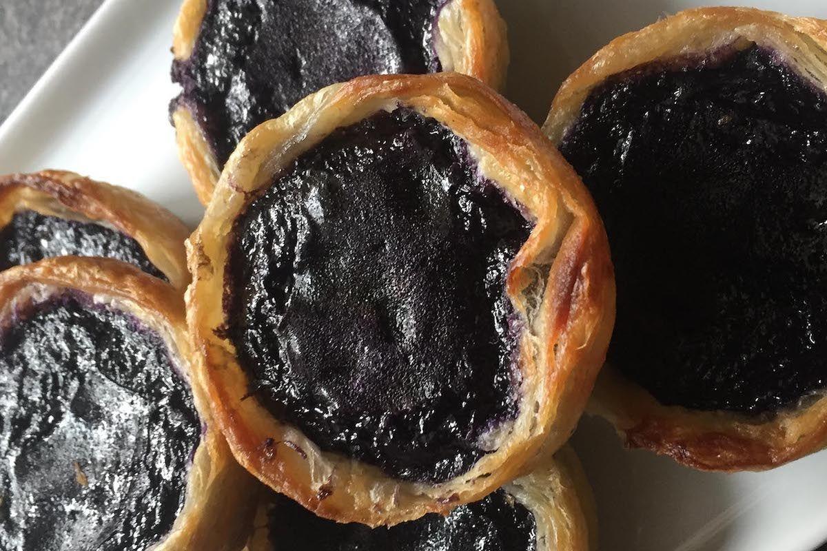 Ube custard tarts. (Photo courtesy of the Institute of Culinary Education)