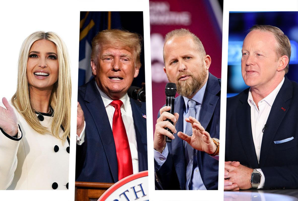 Ivanka Trump, Donald Trump, Brad Parscale and Sean Spicer (Photo illustration by Salon/Getty Images)