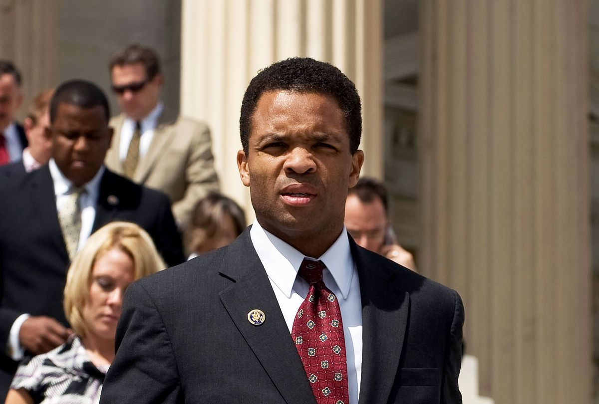 Rep. Jesse Jackson, Jr., D-Ill., walks down the House Steps with other members of Congress following a vote on Thursday, Sept. 10, 2009. (Bill Clark/Roll Call/Getty Images)
