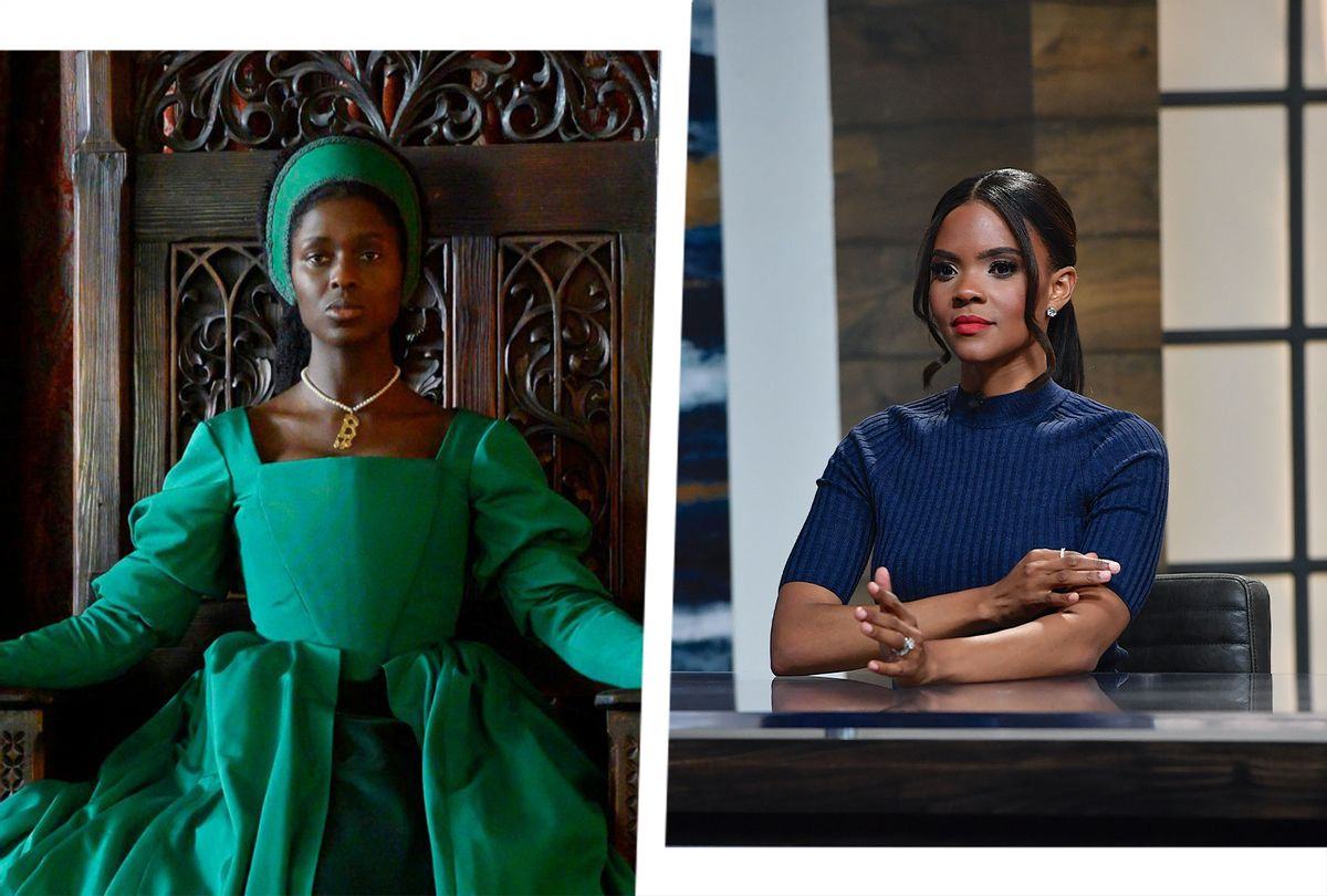 Jodie Turner-Smith portrays Anne Boleyn in an upcoming drama | Candace Owens (Photo illustration by Salon/Getty Images/UK Channel 5)