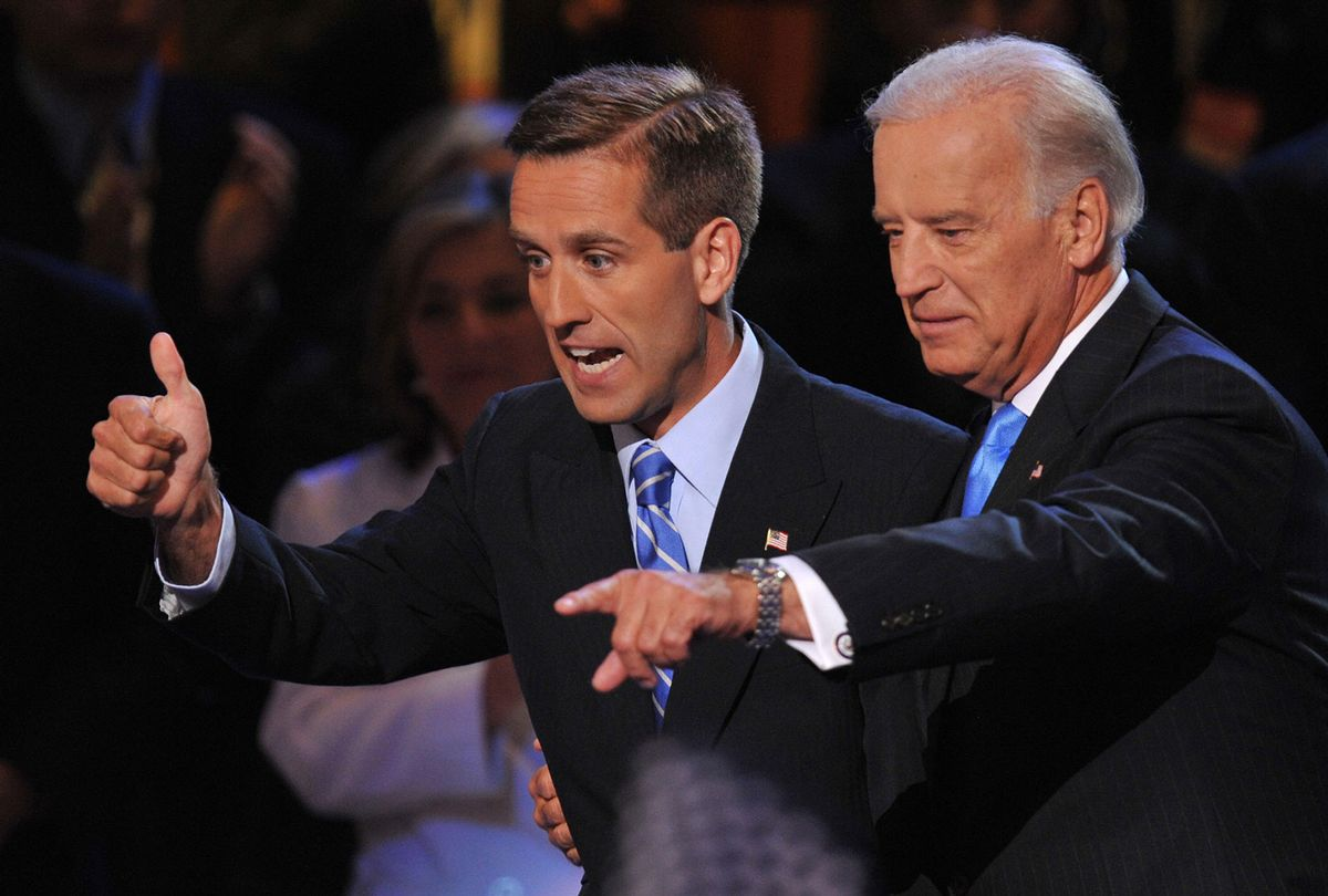 Joe Biden, right, and his son Beau had a strong relationship until Beau's death in 2015 (PAUL J. RICHARDS/AFP via Getty Images)