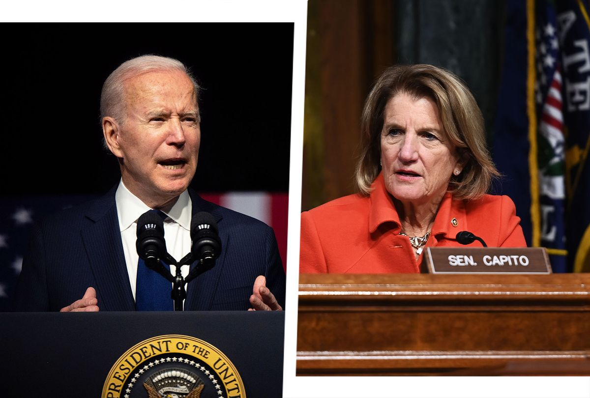 Joe Biden and Shelley Moore Capito (Photo illustration by Salon/Getty Images)