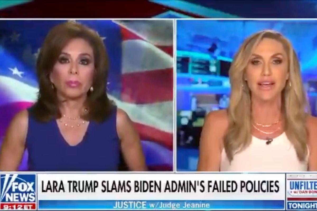 Lara Trump during an interview on Fox News (FOX News)
