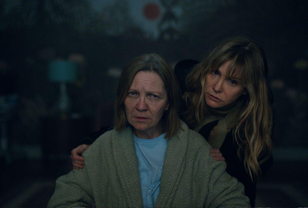 """Joan Allen and Jennifer Jason Leigh in """"Lisey's Story"""" (Apple TV+)"""