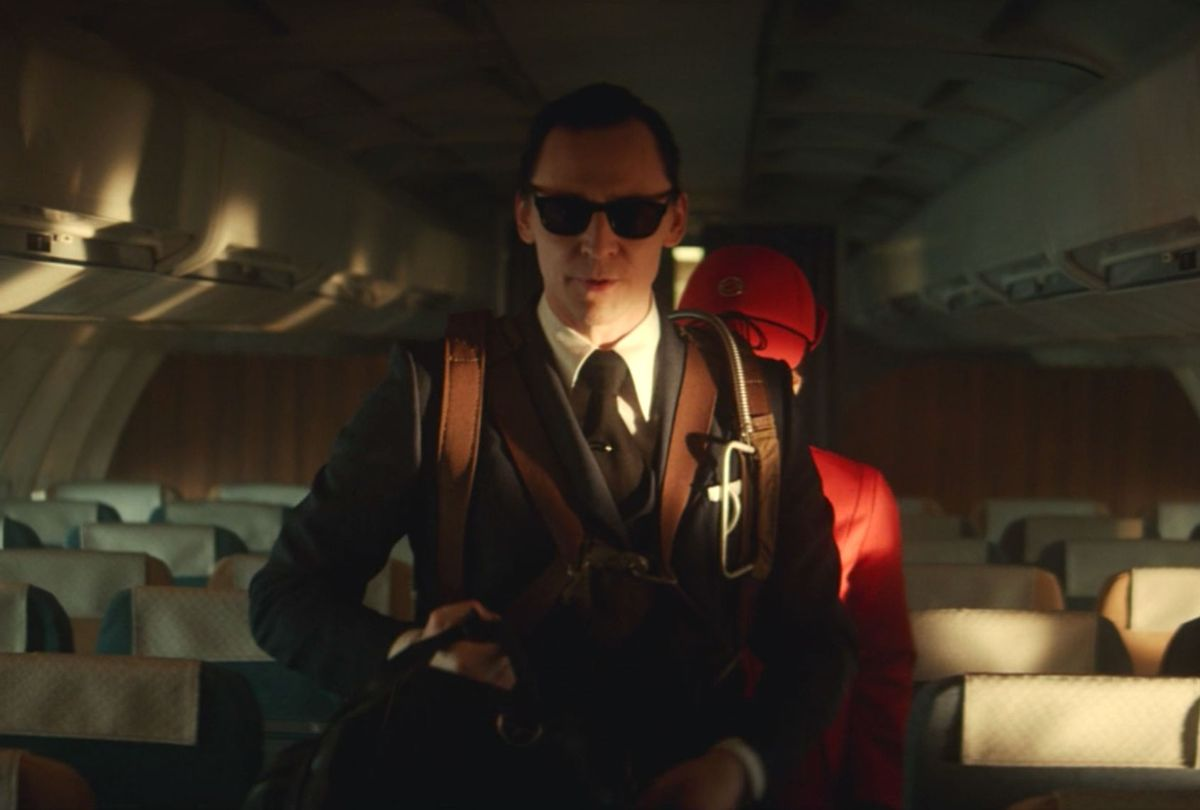 "Tom Hiddleston as Loki as D.B. Cooper in ""Loki"" (Disney+/Marvel Studios)"