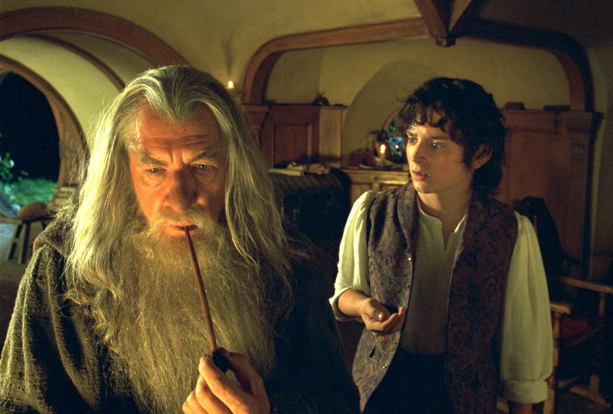 """Ian McKellen (L) as Gandalf with Elijah Wood as Frodo in """"Lord Of The Rings"""" (Getty Images/New Line/WireImage)"""