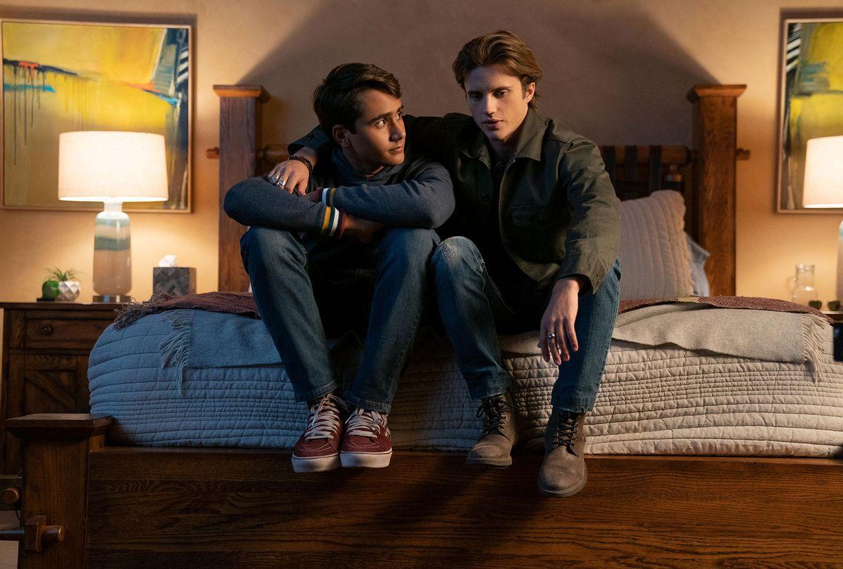 "Michael Cimino as Victor and George Sear as Benji in ""Love Victor"" (Hulu)"