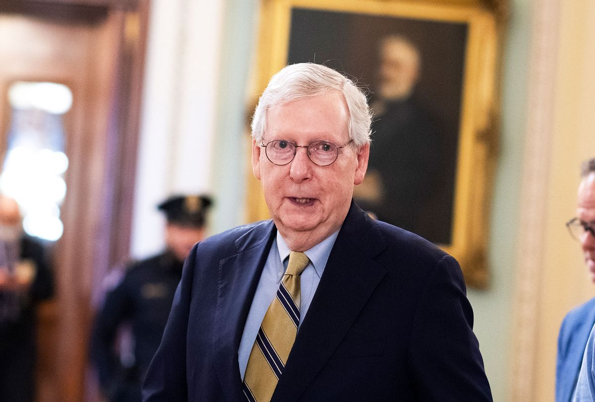 Senate Minority Leader Mitch McConnell, R-Ky. (Tom Williams/CQ-Roll Call, Inc via Getty Images)