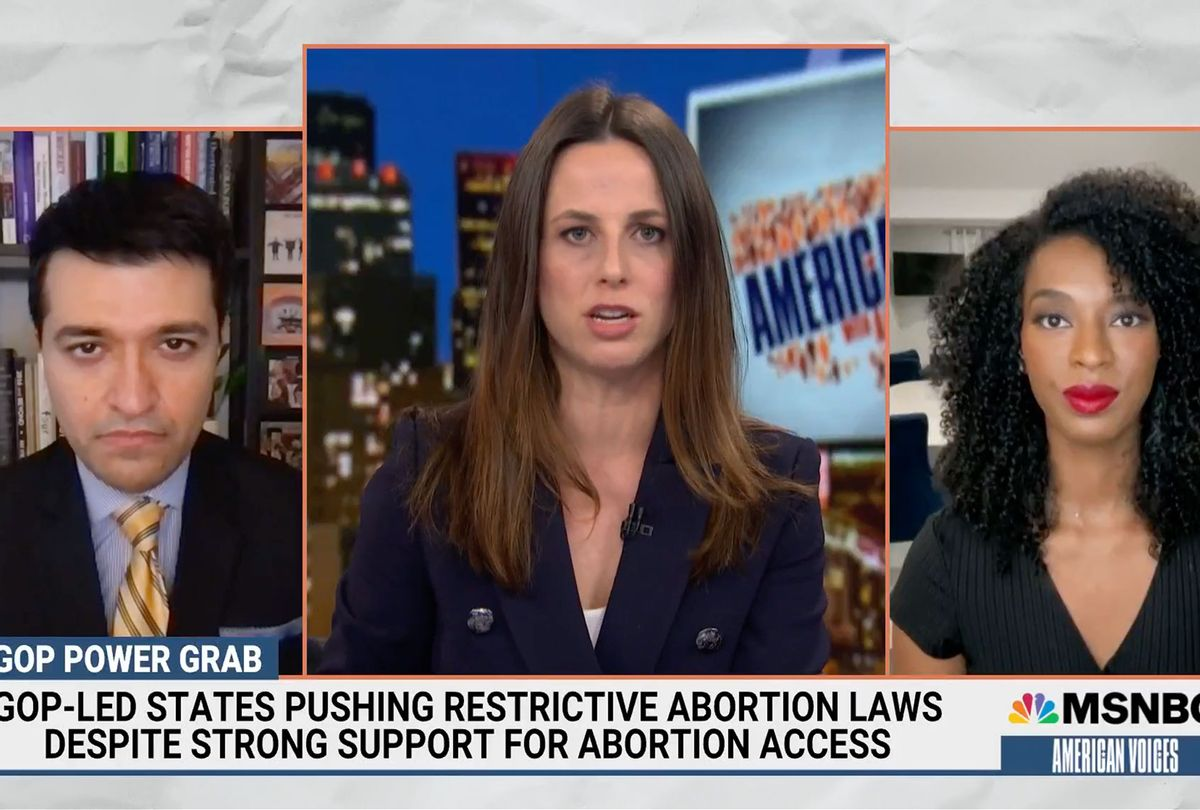NBC News National Political Reporter Sahil Kapur and Democratic Strategist Juanita Tolliver joined American Voices with Alicia Menendez to break down the potential fallout from the abortion access and gun rights cases. (MSNBC)