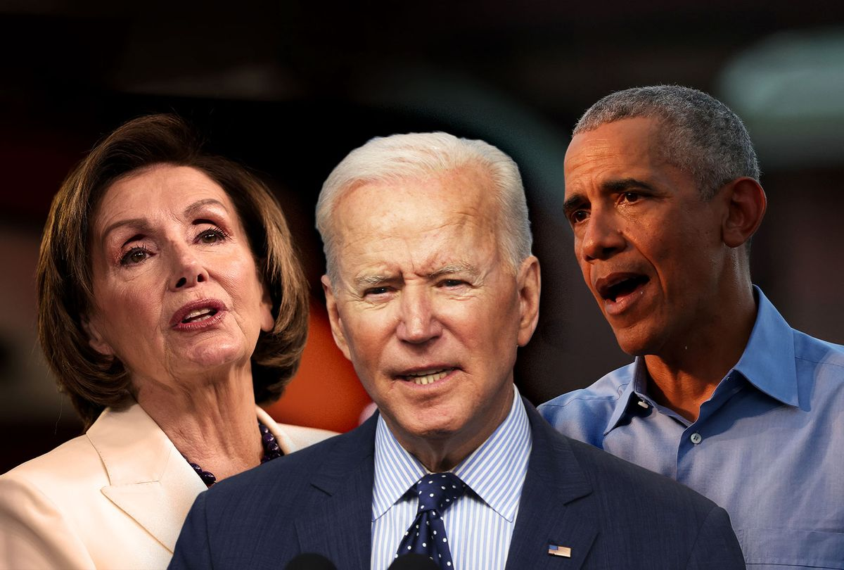 Nancy Pelosi, Barack Obama and Joe Biden (Photo illustration by Salon/Getty Images)