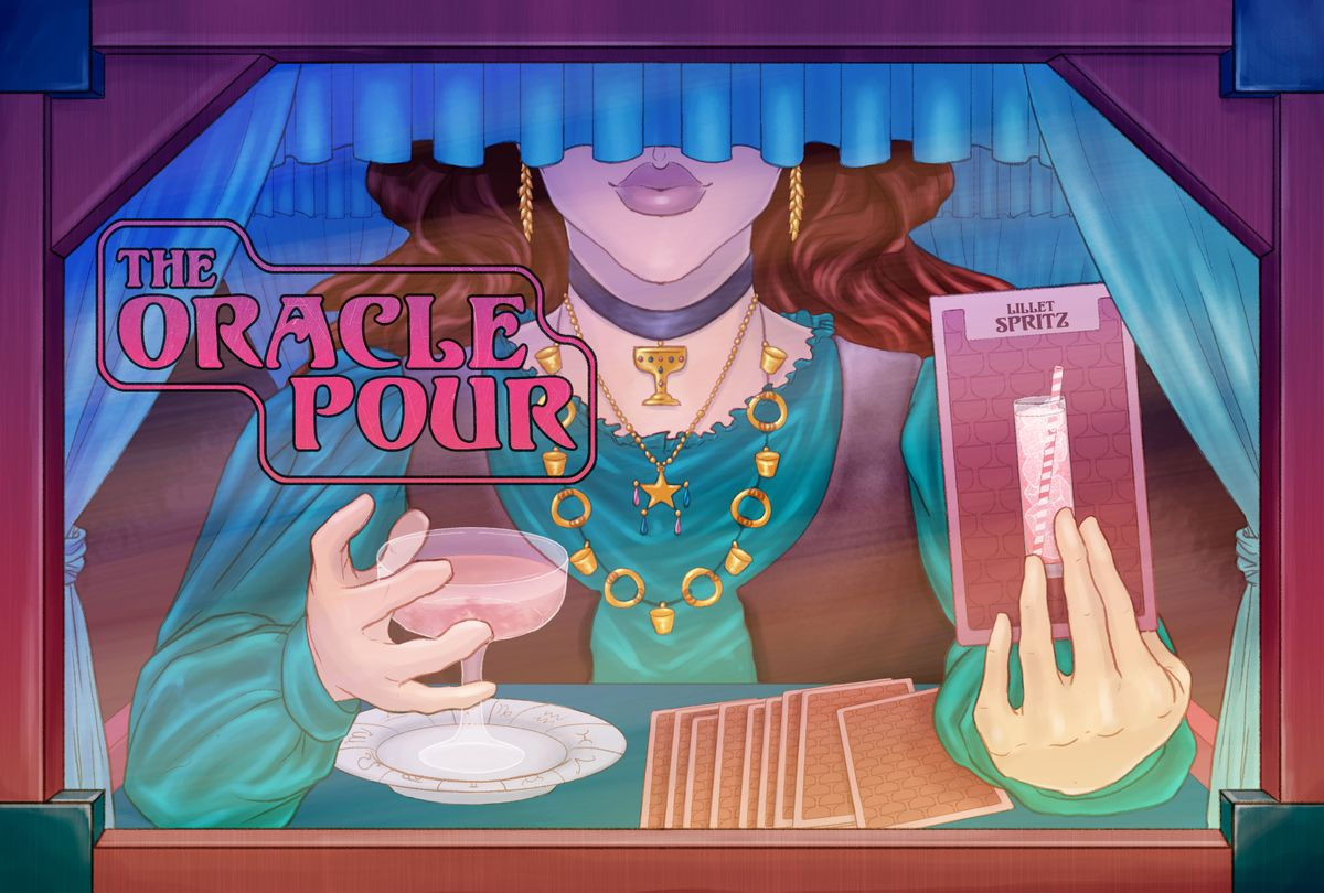 Oracle Pour: Lillet Spritz (Illustration by Ilana Lidagoster/Salon)