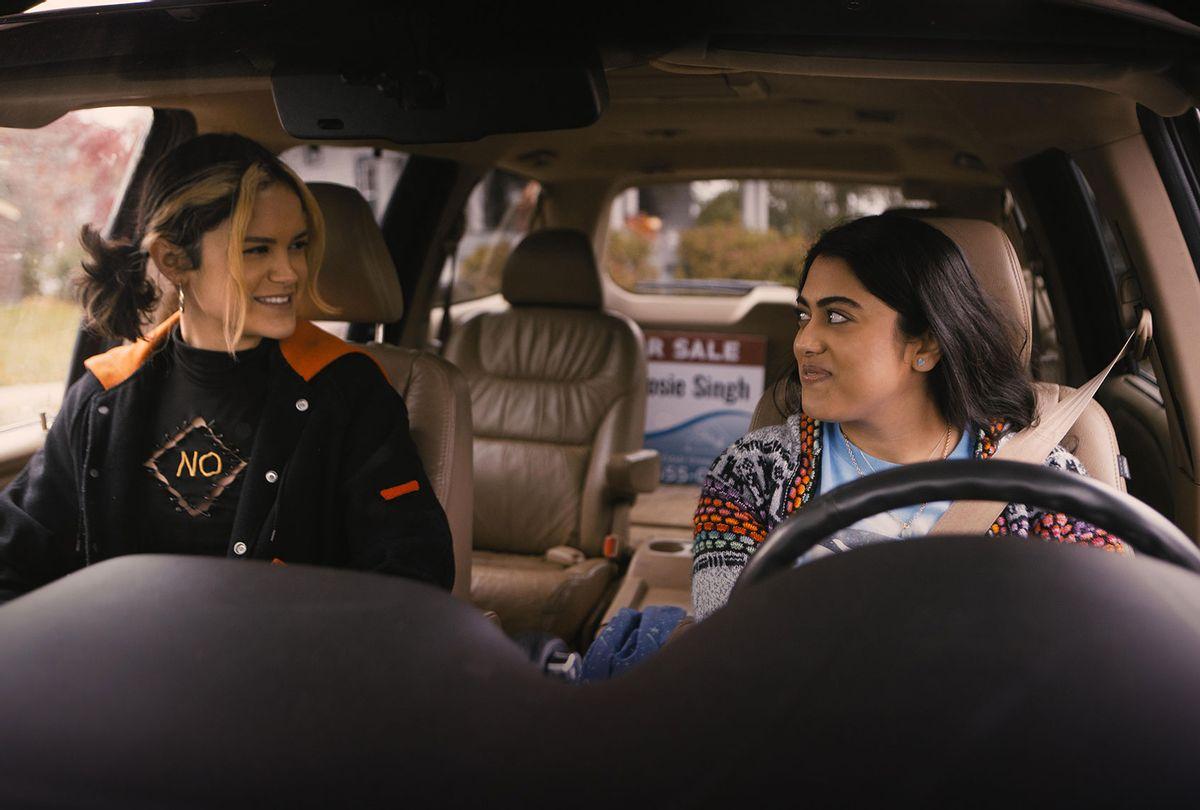 """Kuhoo Verma and Victoria Morales in """"Plan B"""" (Brett Roedel/Hulu)"""