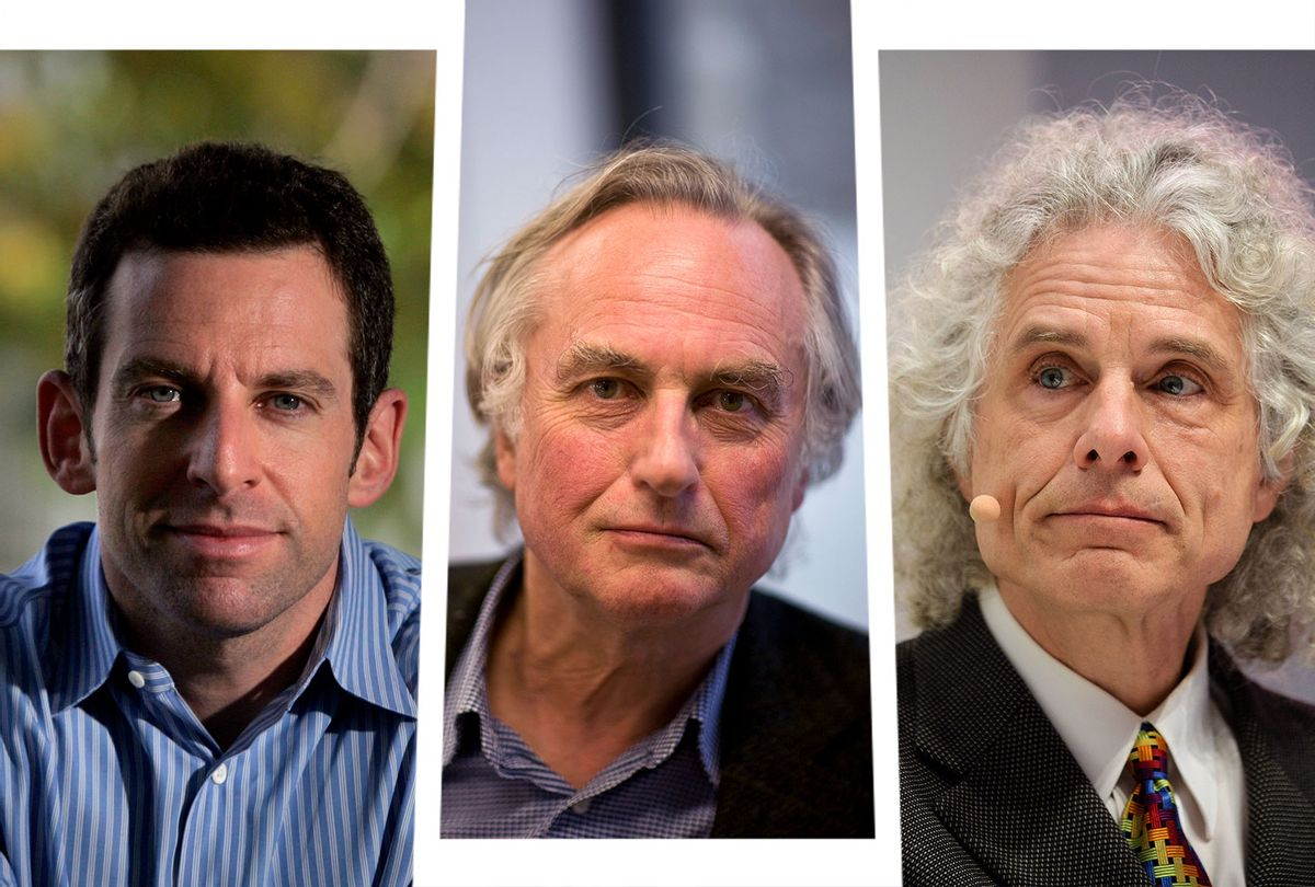 Sam Harris, Richard Dawkins and Steven Pinker (Photo illustration by Salon/Getty Images)