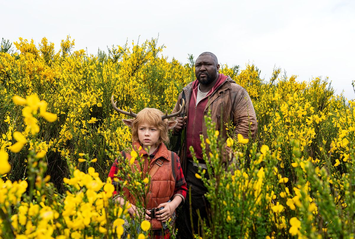 """Christian Convery as Gus and Nonso Anozie as Tommy Jepperd in """"Sweet Tooth"""" (Kirsty Griffin/NETFLIX )"""