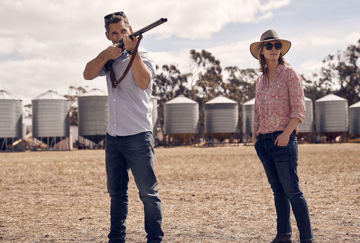 """Eric Bana and Genevieve O'Reilly in """"The Dry"""" (IFC Films)"""