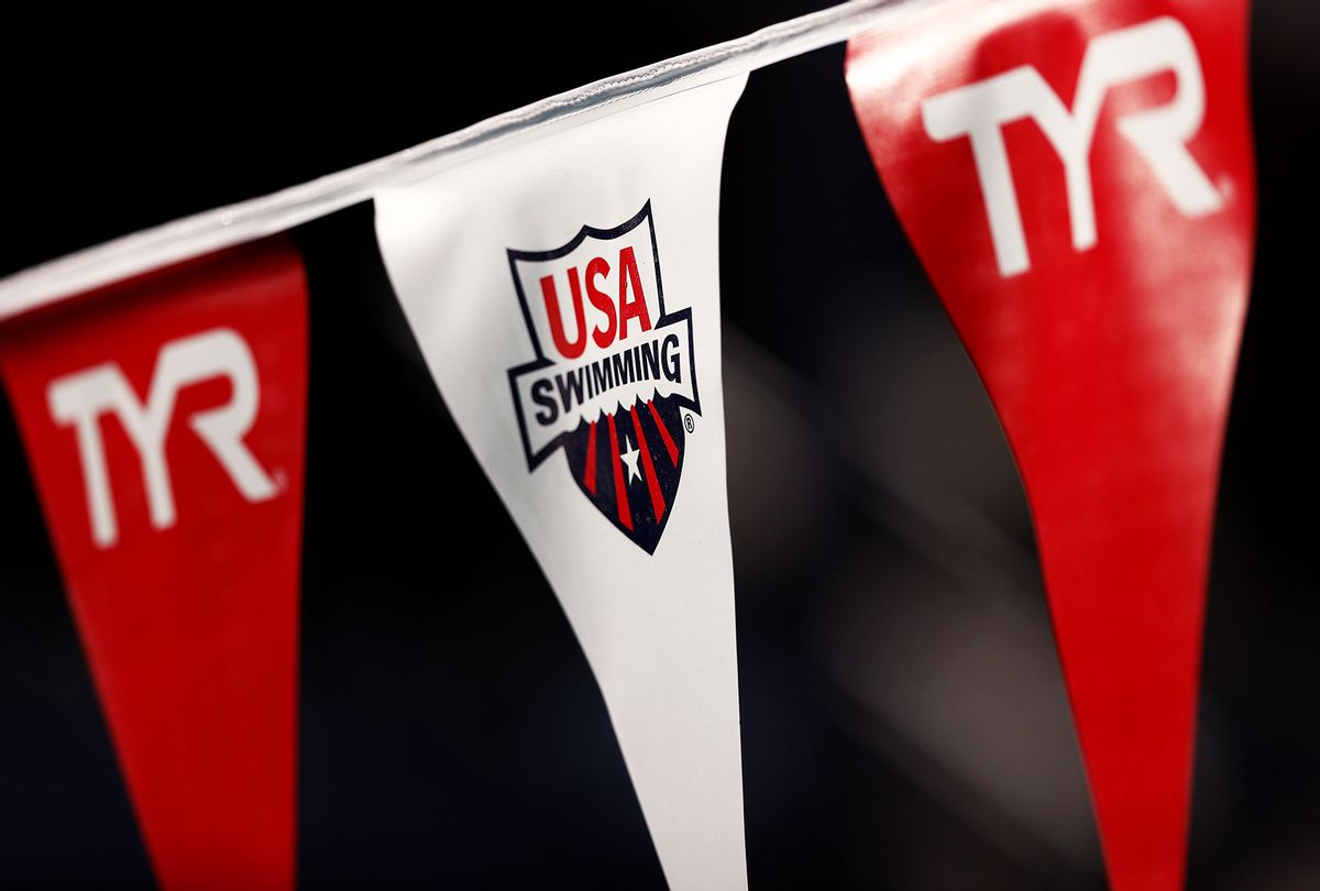 A view of a USA Swimming flag (Maddie Meyer/Getty Images)