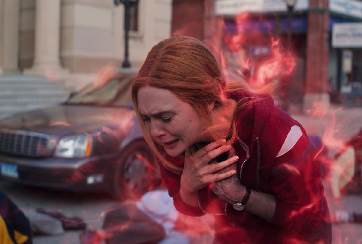 "Elizabeth Olsen as Wanda Maximoff in ""WandaVision"" (Marvel/Disney+)"