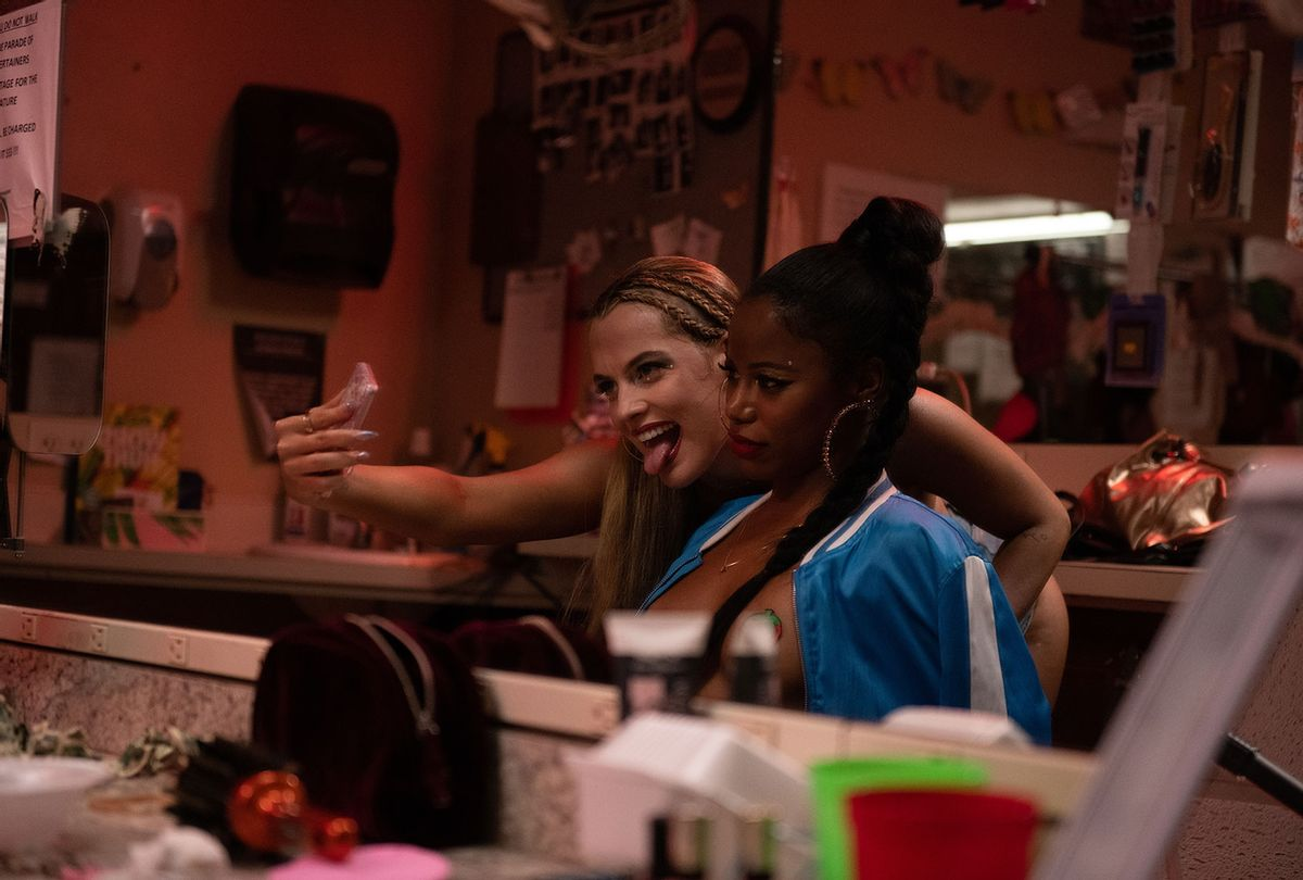 """Riley Keough and Taylour Paige in """"Zola"""" (A24)"""