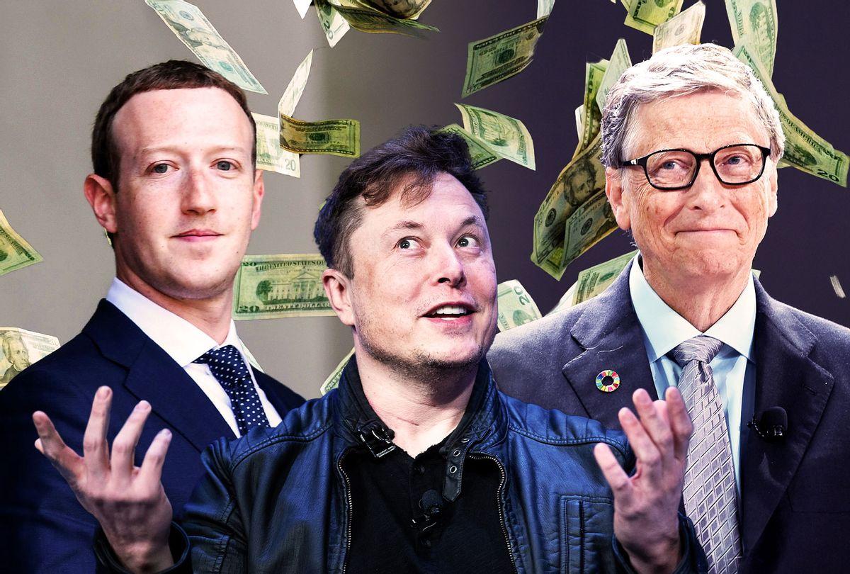 Mark Zuckerberg, Elon Musk and Bill Gates (Photo illustration by Salon/Getty Images)