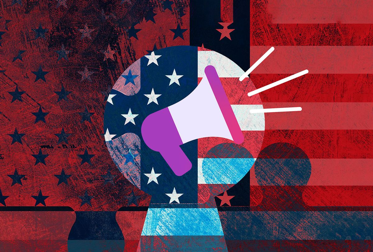 Abstract freedom of speech illustration (Getty Images/Sean Gladwell)