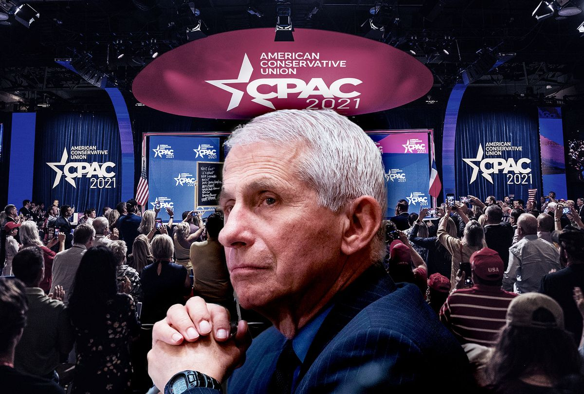 Anthony Fauci   Conservative Political Action Conference CPAC held at the Hilton Anatole on July 10, 2021 in Dallas, Texas. (Photo illustration by Salon/Getty Images)
