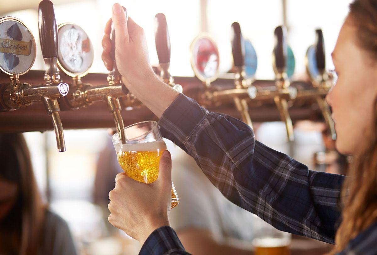 Bartender pouring a drink (Getty Images/Klaus Vedfelt)