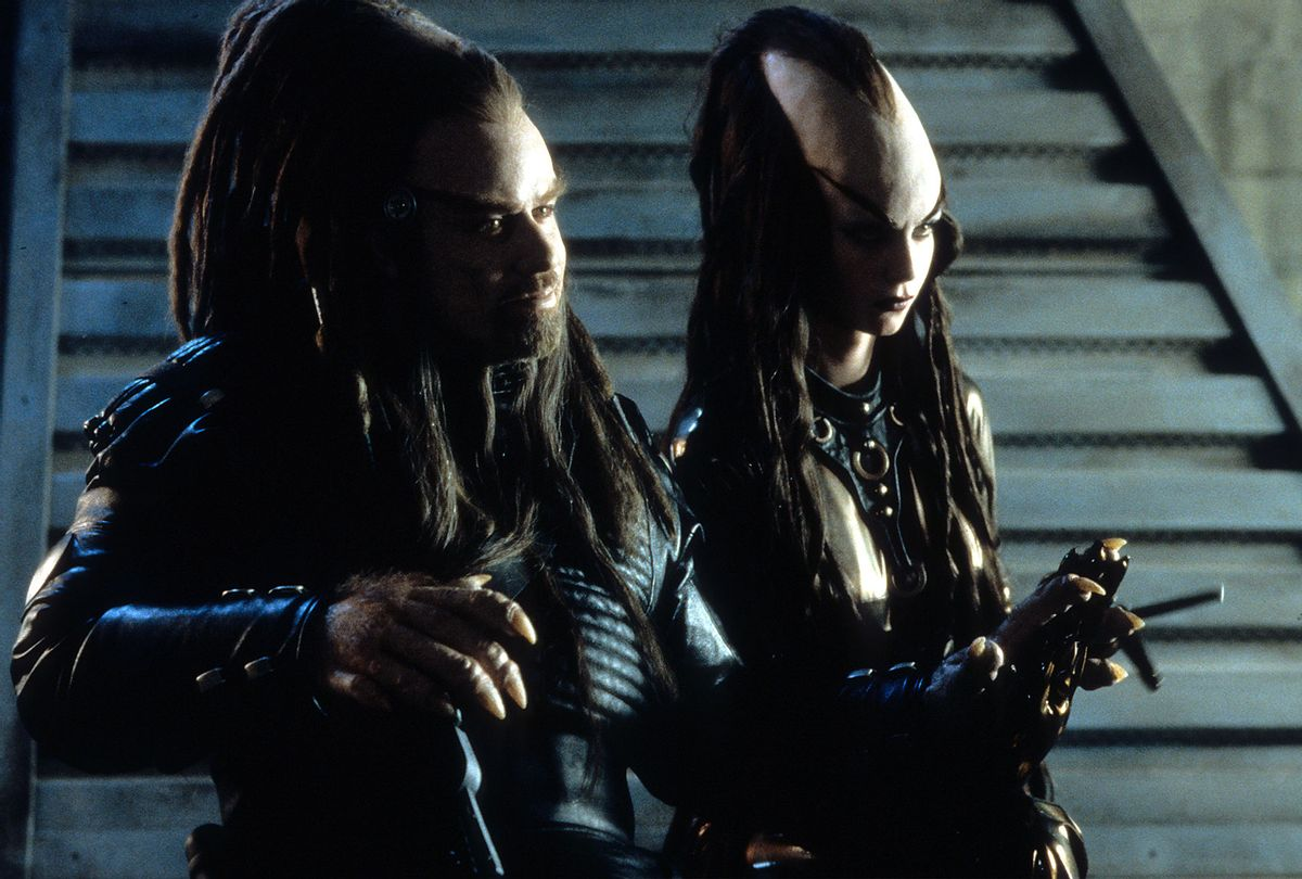 """John Travolta in scene from the film """"Battlefield Earth"""" (Warner Brothers/Getty Images)"""