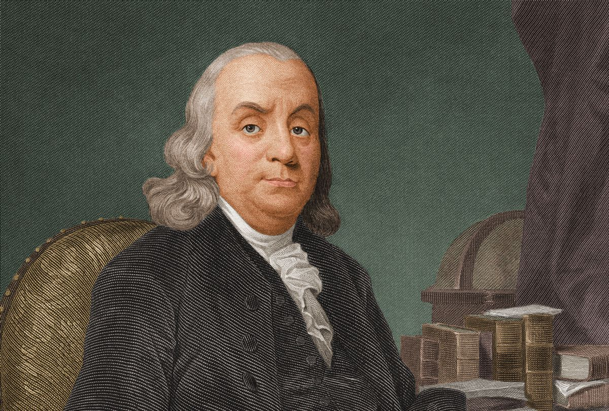 ortrait of American politician, scientist, and philosopher Benjamin Franklin (1706 - 1790), one of the drafters of the Declaration of Independence, 1770s. (Stock Montage/Getty Images)