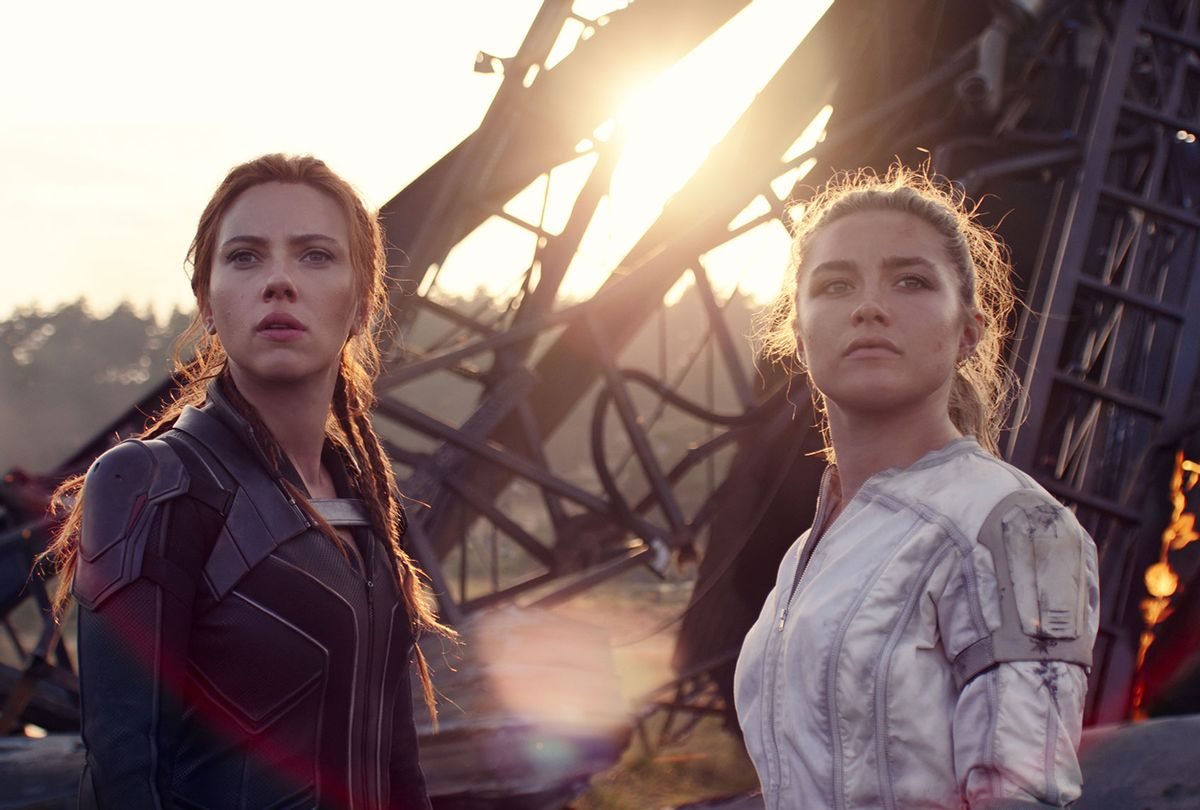 "Scarlett Johansson and Florence Pugh in ""Black Widow""  (Marvel Studios)"