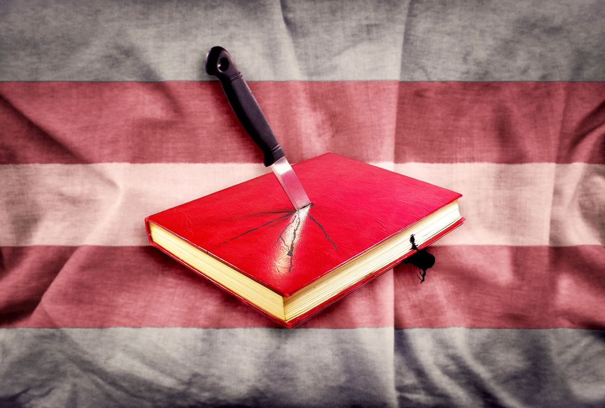 Book Stabbed By Knife   Trans Flag (Photo illustration by Salon/Getty Images)