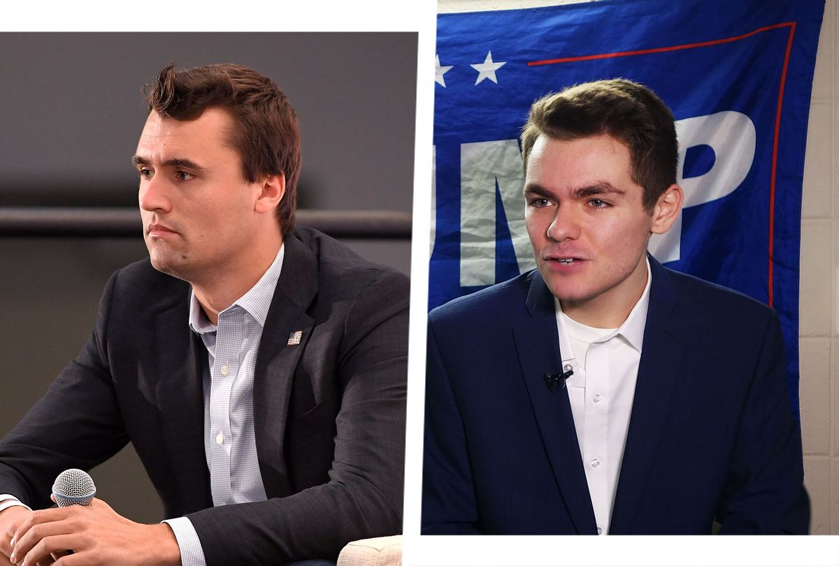 Charlie Kirk and Nick Fuentes (Photo illustration by Salon/Getty Images)
