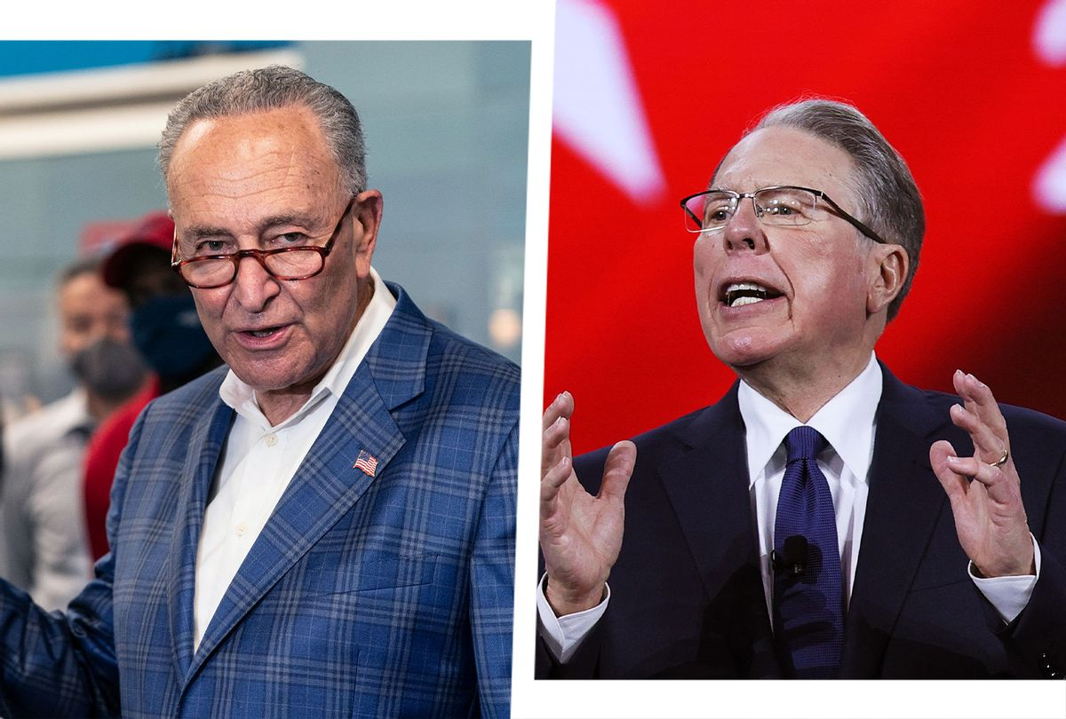 Charles Schumer and Wayne LaPierre (Photo illustration by Salon/Getty Images)