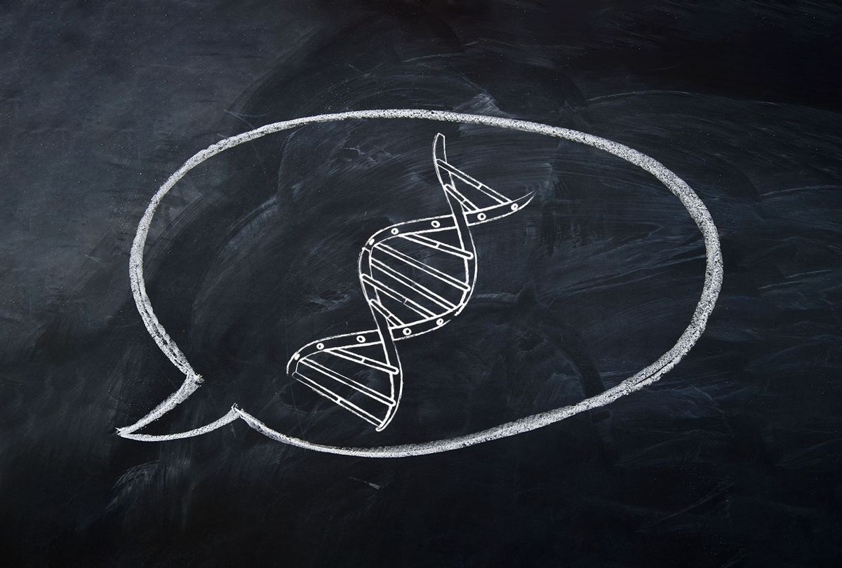 DNA in a speech bubble (Photo illustration by Salon/Getty Images)