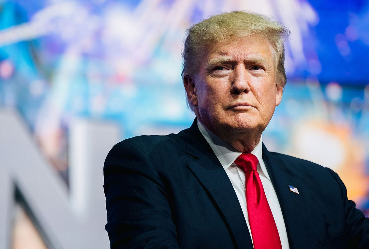 Former U.S. President Donald Trump prepares to speak at the Rally To Protect Our Elections conference on July 24, 2021 in Phoenix, Arizona. The Phoenix-based political organization Turning Point Action hosted former President Donald Trump alongside GOP Arizona candidates who have begun candidacy for government elected roles. (Brandon Bell/Getty Images)