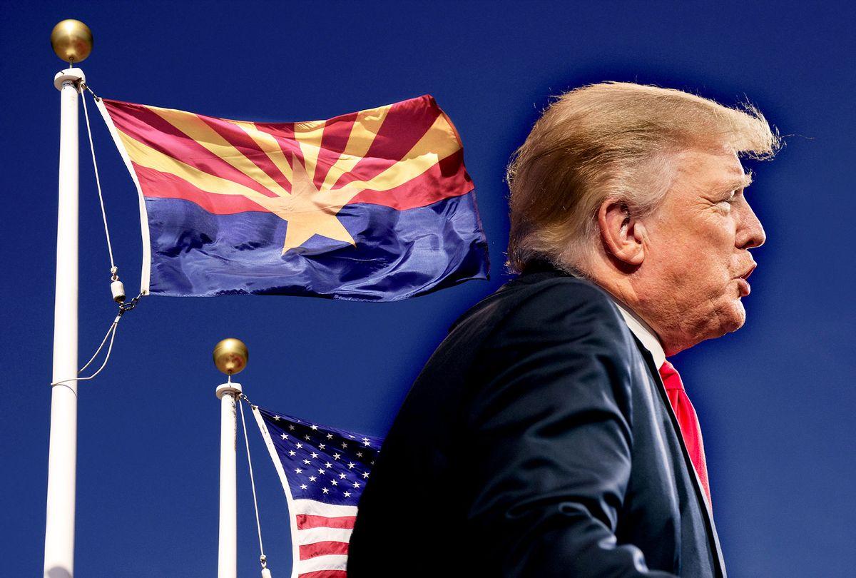 Donald Trump | Arizona State Flag (Photo illustration by Salon/Getty Images)