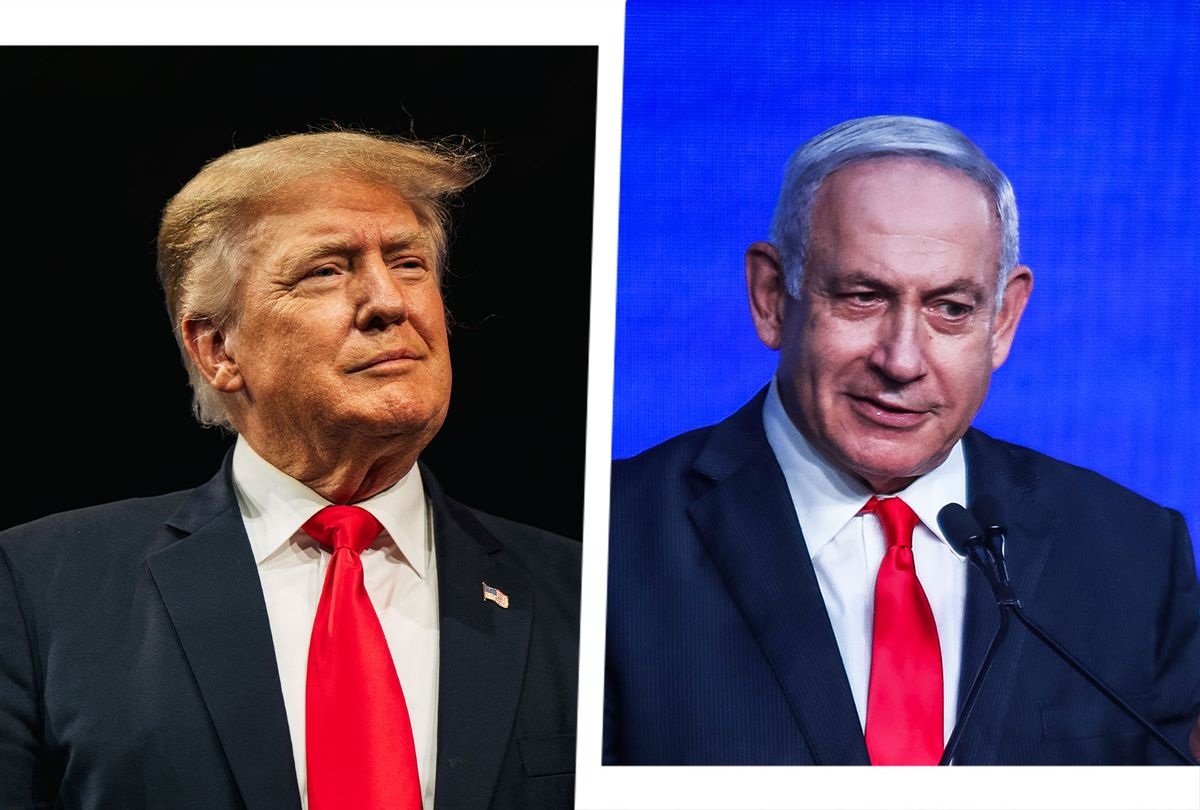 Donald Trump and Benjamin Netanyahu (Photo illustration by Salon/Getty Images)