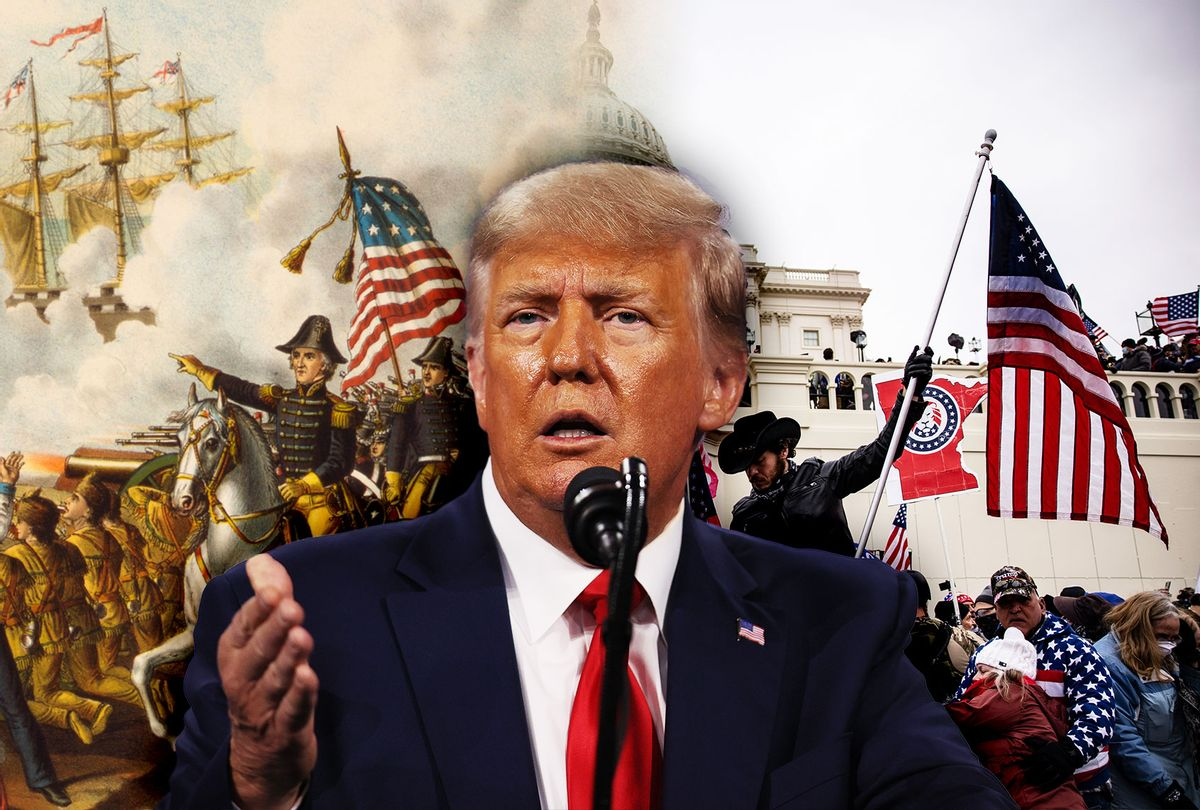 Donald Trump, January 6th Capitol Riot and the War of 1812 (Photo illustration by Salon/Getty Images)