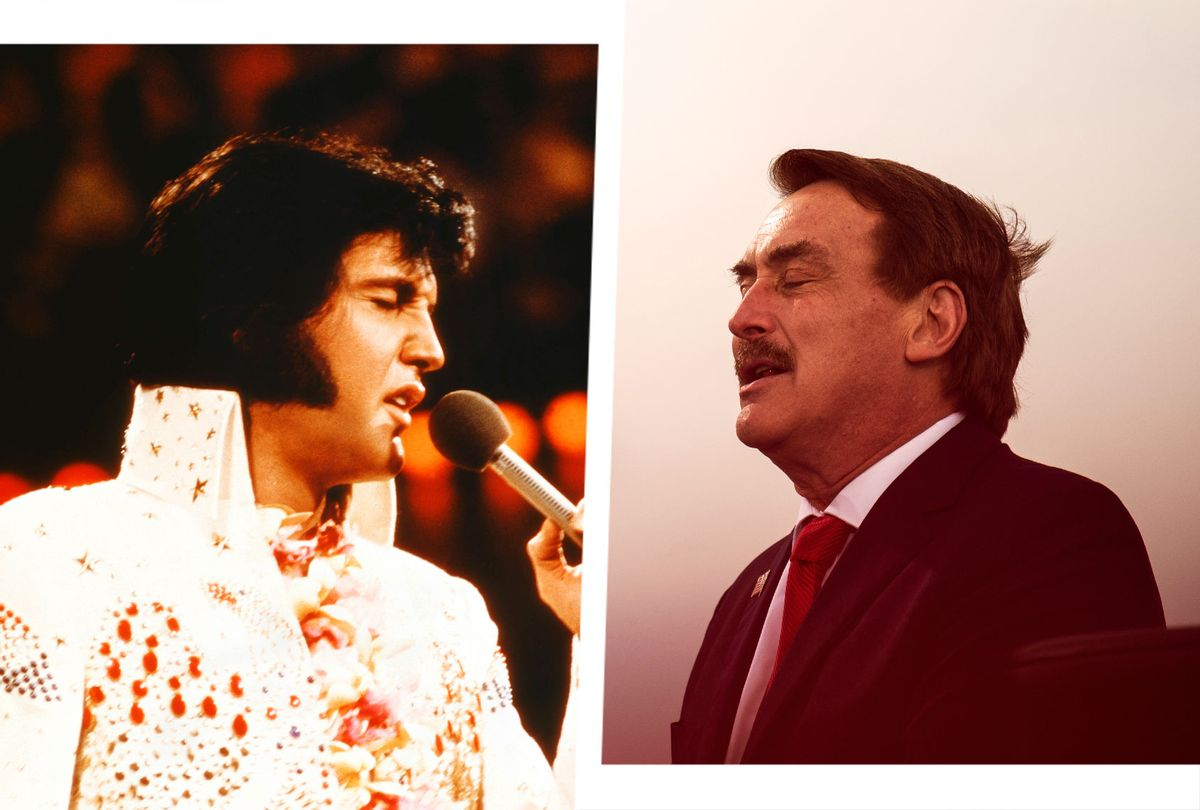 Elvis Presley and Mike Lindell (Photo illustration by Salon/Getty Images)