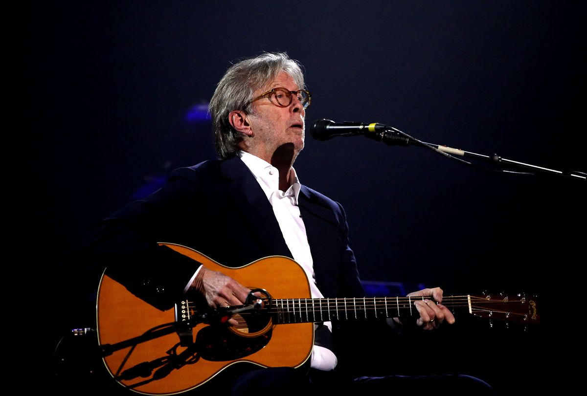 Eric Clapton on stage during The Fashion Awards 2019 held at Royal Albert Hall on December 02, 2019 in London, England. (Lia Toby/BFC/Getty Images)