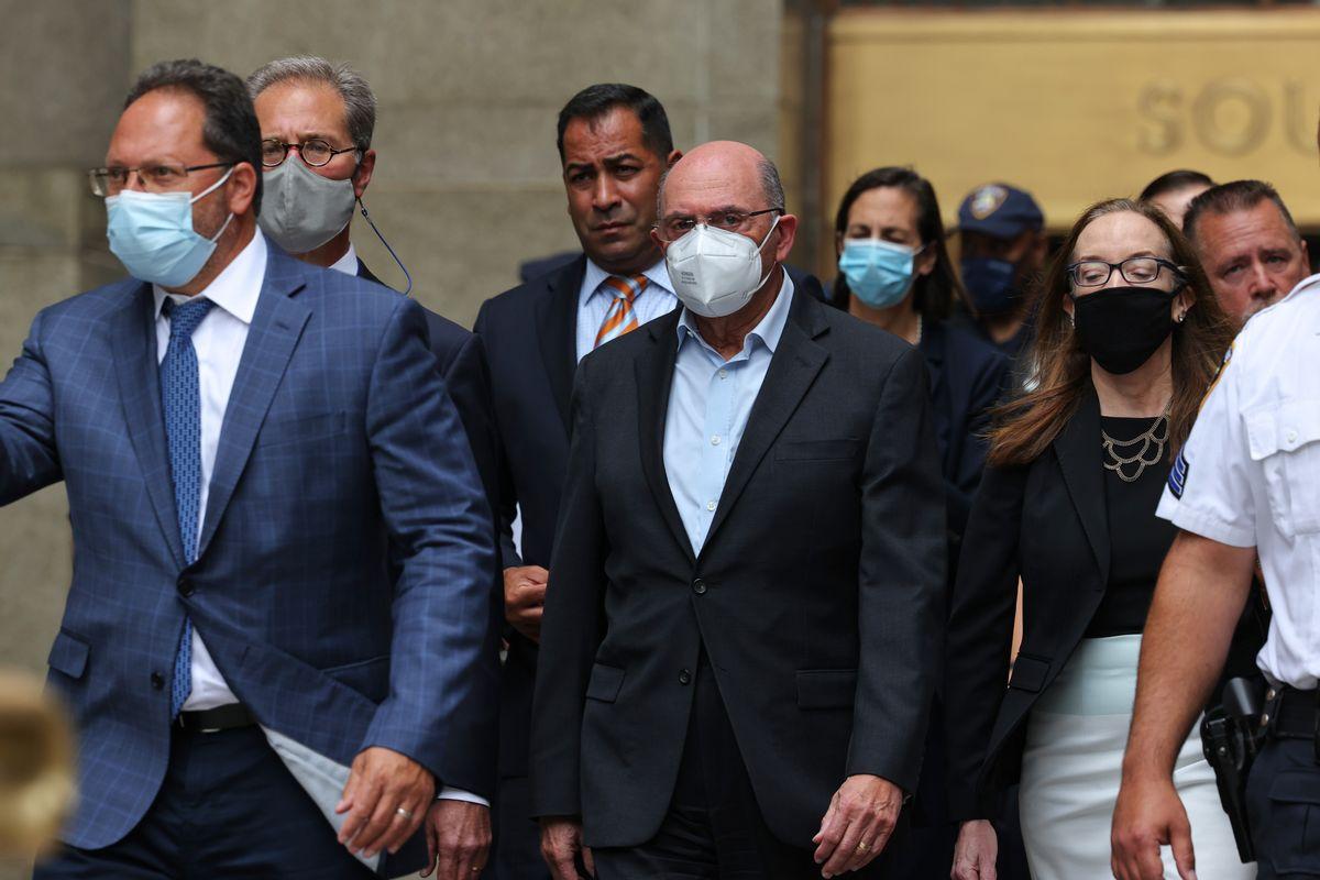 Allen Weisselberg, Trump Organization CFO, leaves Manhattan Criminal Court after his arraignment in State Supreme Court on July 01, 2021 (Michael M. Santiago/Getty Images)