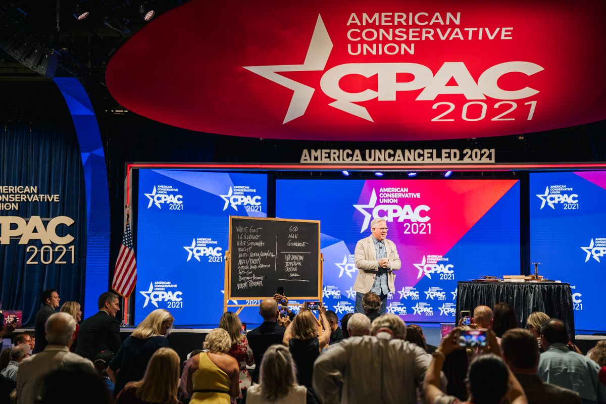 American commentator Glenn Beck speaks during the 2021 Conservative Political Action Conference. (Getty Images)