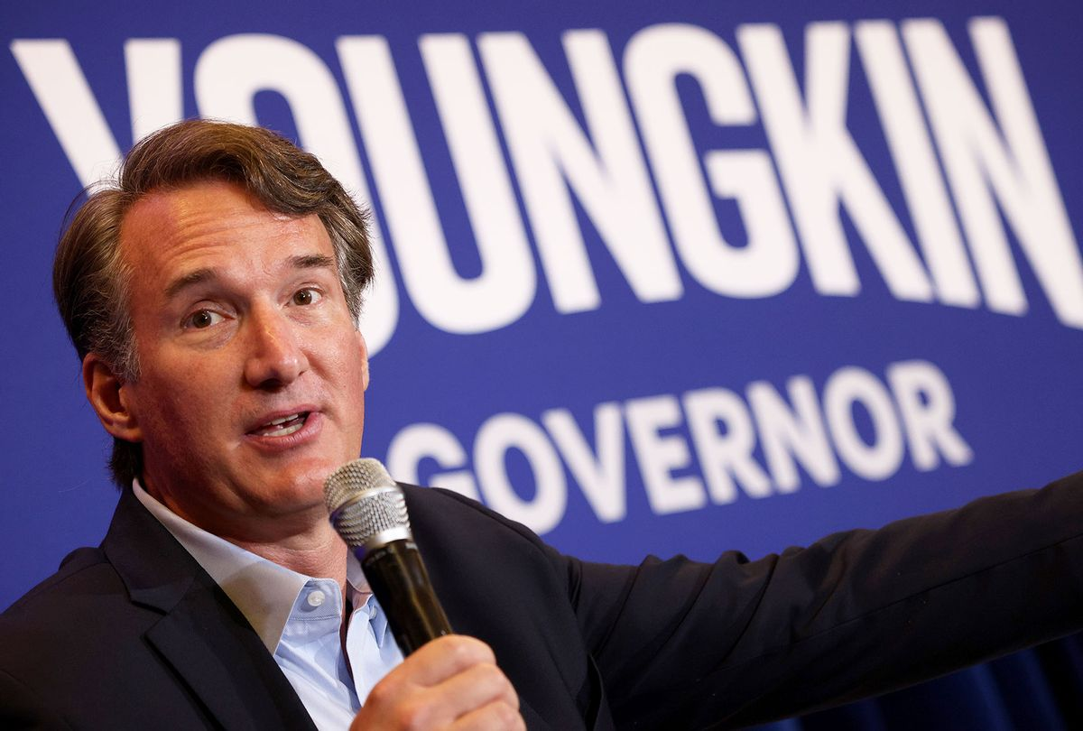 Virginia gubernatorial candidate Glenn Youngkin (R-VA) speaks during a campaign event on July 14, 2021 in McLean, Virginia. Youngkin is running against former Virginia Gov. Terry McAuliffe. (Win McNamee/Getty Images)