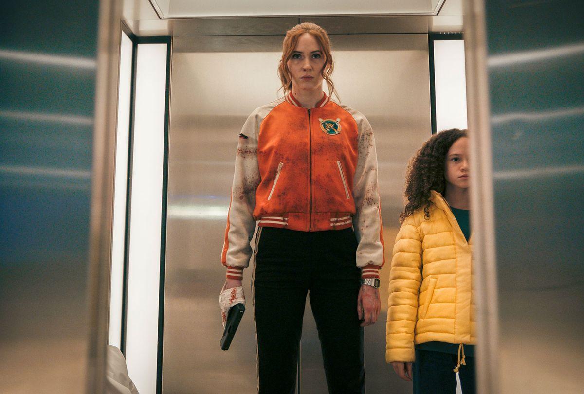 "Karen Gillan and Chloe Coleman in ""Gunpowder Milkshake"" (Reiner Bajo/Netflix)"