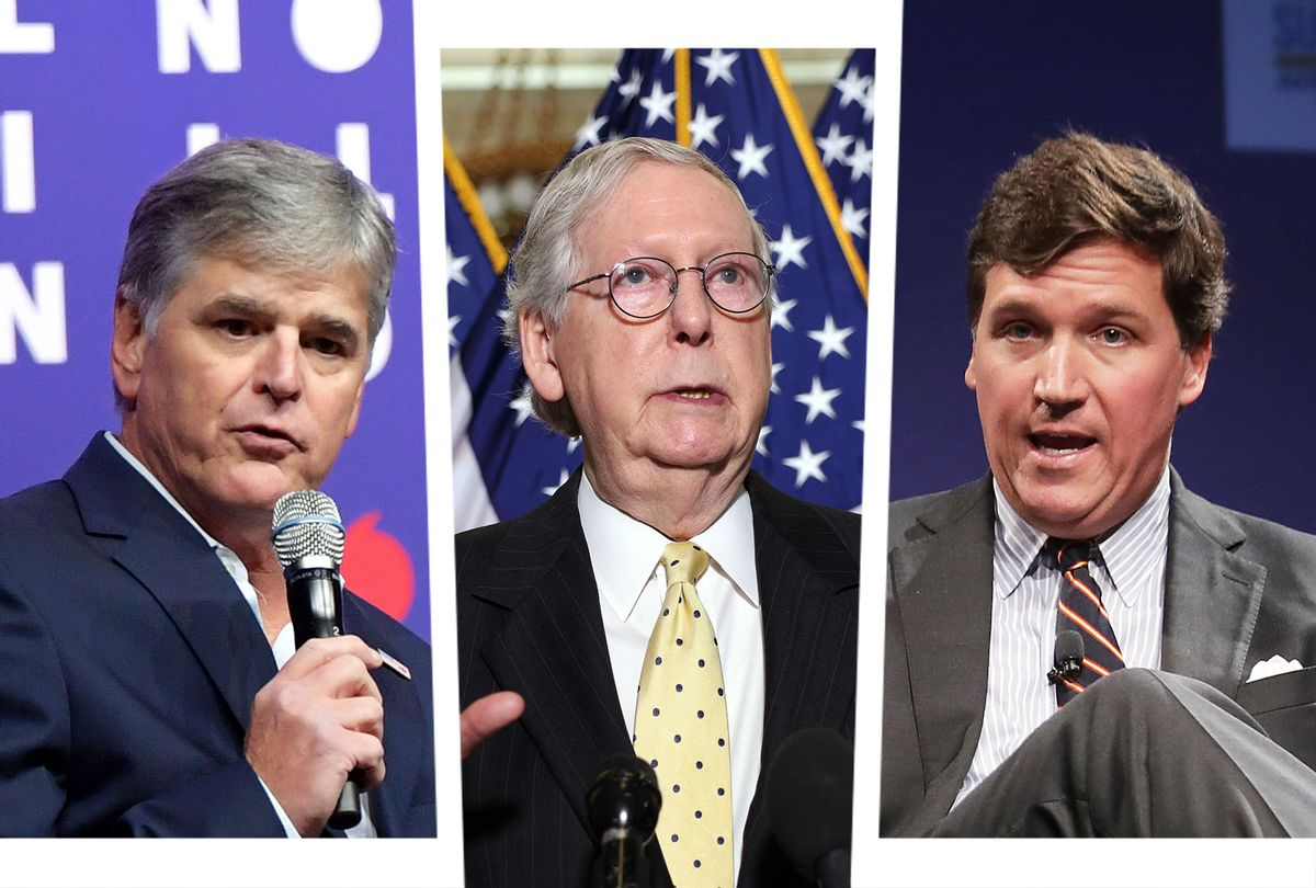 Sean Hannity, Mitch McConnell and Tucker Carlson (Photo illustration by Salon/Getty Images)
