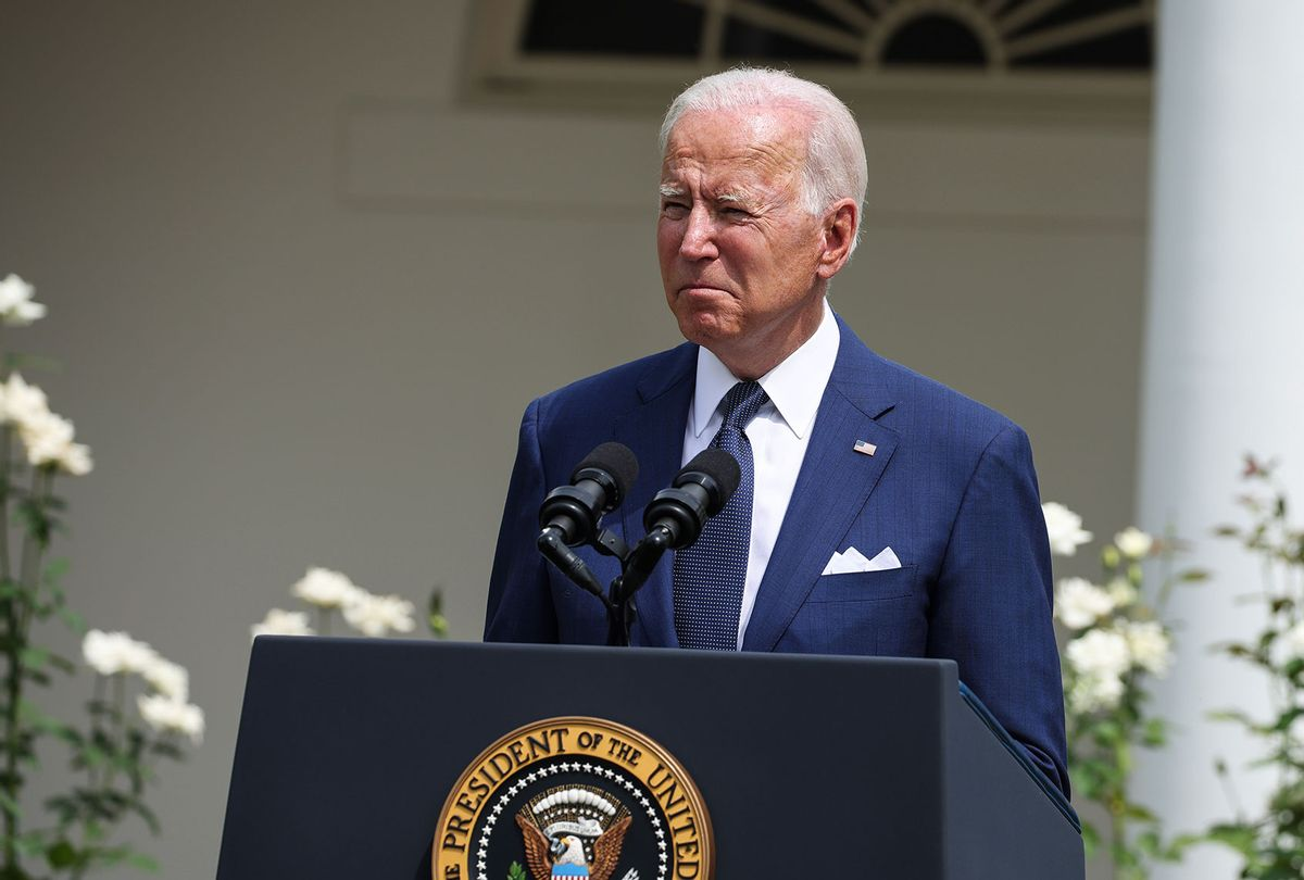 U.S. President Joe Biden delivers remarks during an event in the Rose Garden of the White House on July 26, 2021 in Washington, DC. The event marked the 31st anniversary of the Americans with Disabilities Act (ADA). (Anna Moneymaker/Getty Images)