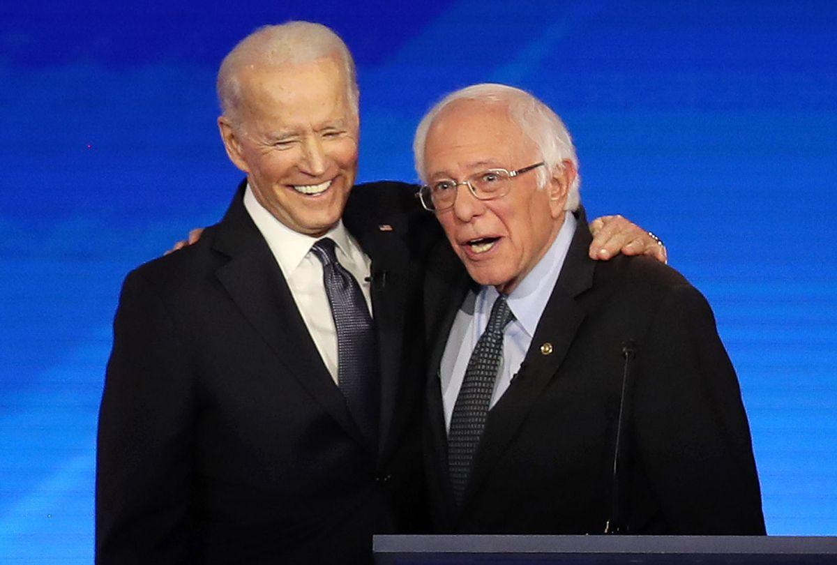 Joe Biden and Bernie Sanders (Joe Raedle/Getty Images)